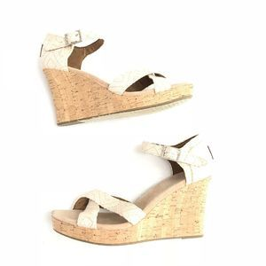Toms Shoes - NEW Tom's Natural Sienna Woven Wedges Cork 301214